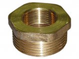 Pipe Bushing, 1.25″ Male x 1″ Female Non-Tapered Brass
