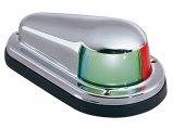 Navigation Light, Bicolor Chrome Plated Brass Horiz Plastic Base 12V