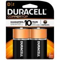 Alkaline Battery, Type:D Plus 1.5V 2 Pack