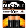 Alkaline Battery, Type:C CopperTop 1.5V 2 Pack