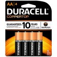 Alkaline Battery, Type:AA 1.5V 4 Pack