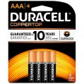 Alkaline Battery, Type:AAA 1.5V 4 Pack