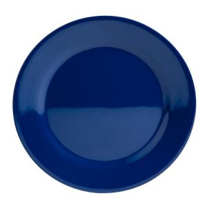 """Plate, Solid Blue 10"""" 3"""