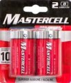 Alkaline Battery, Type:D 2 Pack