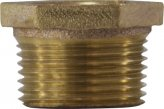 Pipe Bushing, 1.5Mal x 1″ Female Tapered Brass