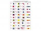 Flag Set, International-Code Nylon 20 x 30cm