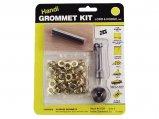 Grommet Kit, #1 InØ:5/16″ Brass with Tool 24 Pack