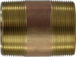 Pipe Nipple, Male Thread:2″ Length:3″ Tapered Brass