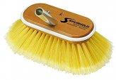 Deck Brush, 6″ Soft Flag Yellow Bristle with Qck-Clip Male