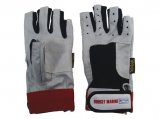 Gloves, Leather 5 Fingercut BM Logo N/A  Small