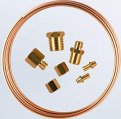 Tubing Kit, Pressure Length:6′ Copper
