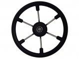 "Steering Wheel, ""Talon"" Stainless Steel Spokes PVC Grip 14″"