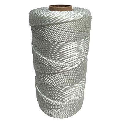 Polypropylene Packaging Twine 1,000 Foot White Poly Twine Tube Binding and Bundling