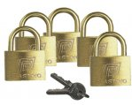 Padlock Set, Width:40mm w/Different Hasp 5/Pk