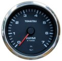 Tachometer, with Oil Lamp 4″ 4 Stroke White