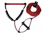 Tow Rope, Length:65′ Red for Wakeboard with EVA-PHAT Handle