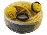 Cordset, 30A 125V 3Str10ga Length:50′ Yellow Lock&LED