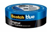 Masking Tape, MultiSurface 1″ Blue Length:60Yd #2090