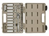 Ratchet Socket Set, with Hard Case & Wrap 30 Piece