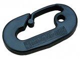 Snap Hook/Carabiner, 3-1/4″ Black Nylon for Ski Rope