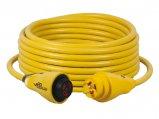 Extension Cord, 30A 125V 3Str10ga Length:50′ Yellow EEL