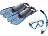 Mask/Snorkel/Fins Set, Bonete Purple S/M