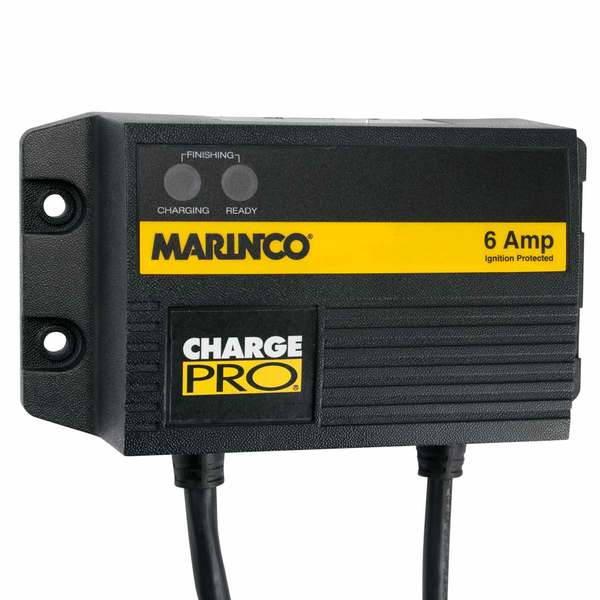 Battery Charger, 12V 06A 120/240V 1 Bank Waterproof 18