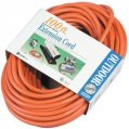 Extension Cord, 15A 125V 3Str12ga Length:100′ Orange