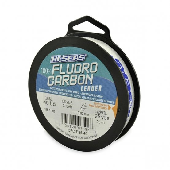 Fluorocarbon Leader, 40Lb 25Yd Clear 3