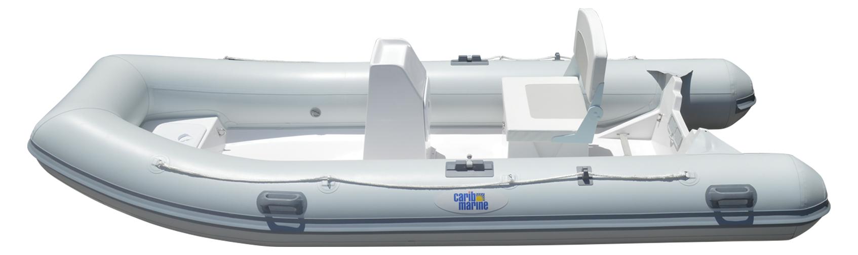 Dinghy, 4.1m 13.5' F'Glass Dbl-Flr w/Console&Seat 4
