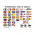 Chart, Int'l Code of Signals 16x12cm with Adhesive