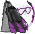Mask/Snorkel/Fins Set, Bonete Purple Large/Extra Large