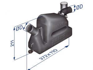 Waterlock, LPR Plast 1Rot&1Fix-FitØ40mm Cap:4.3Lt 3