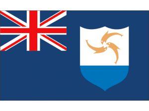"""Flag, Anguilla  12 x 18"""" Nylon 3"""