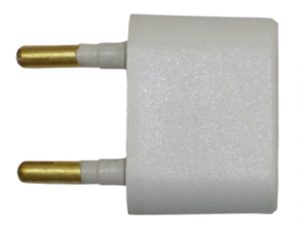 Adapter, 2 Round Pin to 2 Flat/Round Socket 3