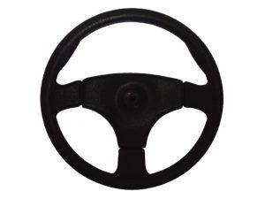 """Steering-Wheel, """"Stealth"""" PVC Grip Black 14"""" 3"""