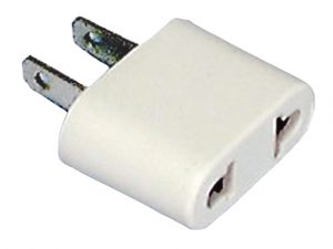 Adapter, 2 Flat Pin to 2 Round/Flat Socket 3
