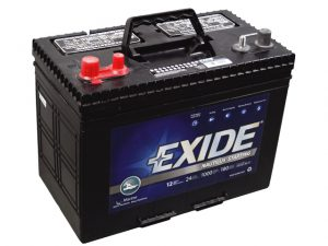 Battery, Start Wet 12V MCA:1000 Sz:27 Exide Marine 3