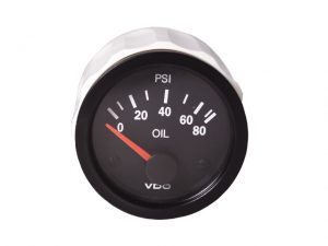 Press.Gauge, Oil 0-400PSI/10-180ohm EU Bk  Vision 3