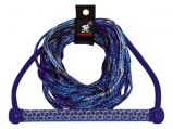 Tow Rope, Length:65′ Blue for Wakeboard with EVA Handle