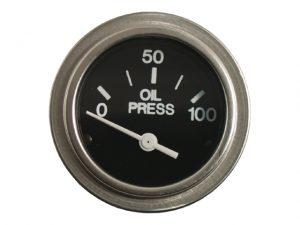 """Press.Gauge, Oil 0-100PSI US Ø2"""" 12V 3"""