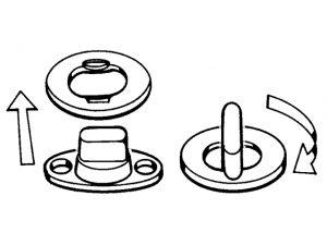 Canvas-Button Kit, TurnButton/2Hole&Eyelet 3/Pk 3
