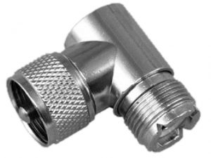 Adapter, Fem to Mal Right-Angle Coax 3