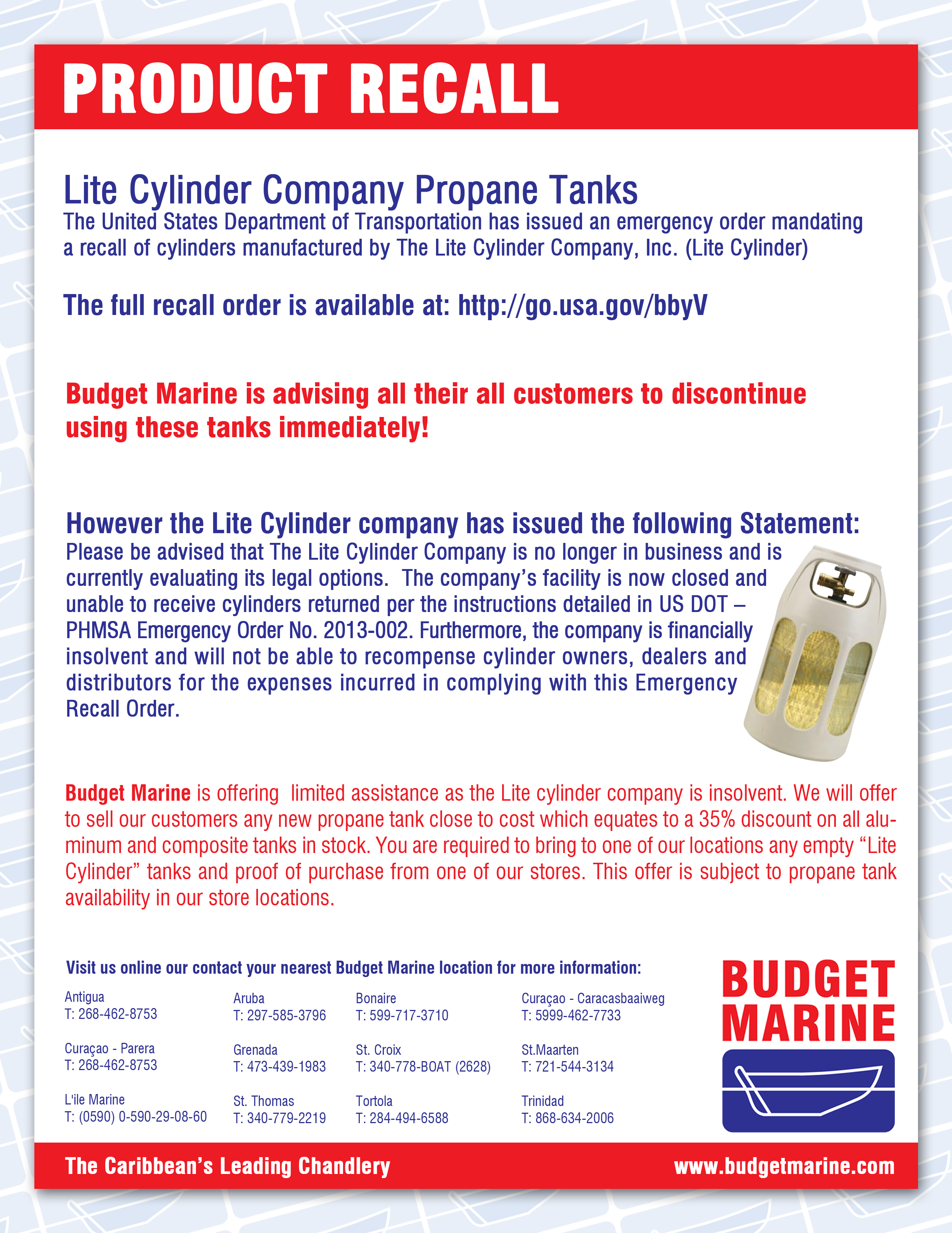 Product Recall Lite Cylinder 11
