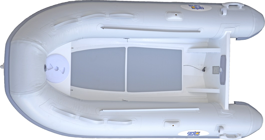Dinghy, 4.2m 14' F'Glass Hull-Floor Grey 14