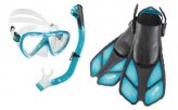 Mask/Snorkel/Fins, Set Bonete Aqua Large/Extra Large