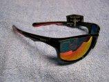 Sunglasses, Inlet Black Fr/Orange Lens