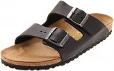 Sandals, Arizona Leather Black Regular