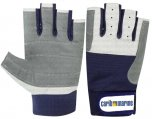 Gloves, Leather 5 Fingercut Carib Marine Logo