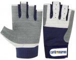 Gloves, Leather 5 Fingercut Carib Marine Logo